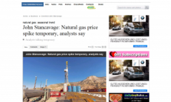 Natural Gas Price Spike