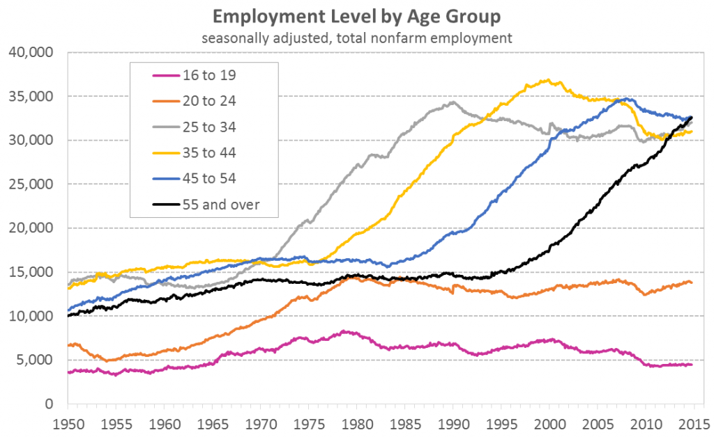 Employment Level by Age Group