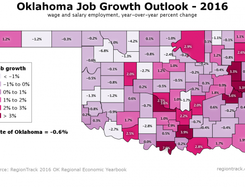 Areas of Oklahoma Will Struggle to Add Jobs in '16